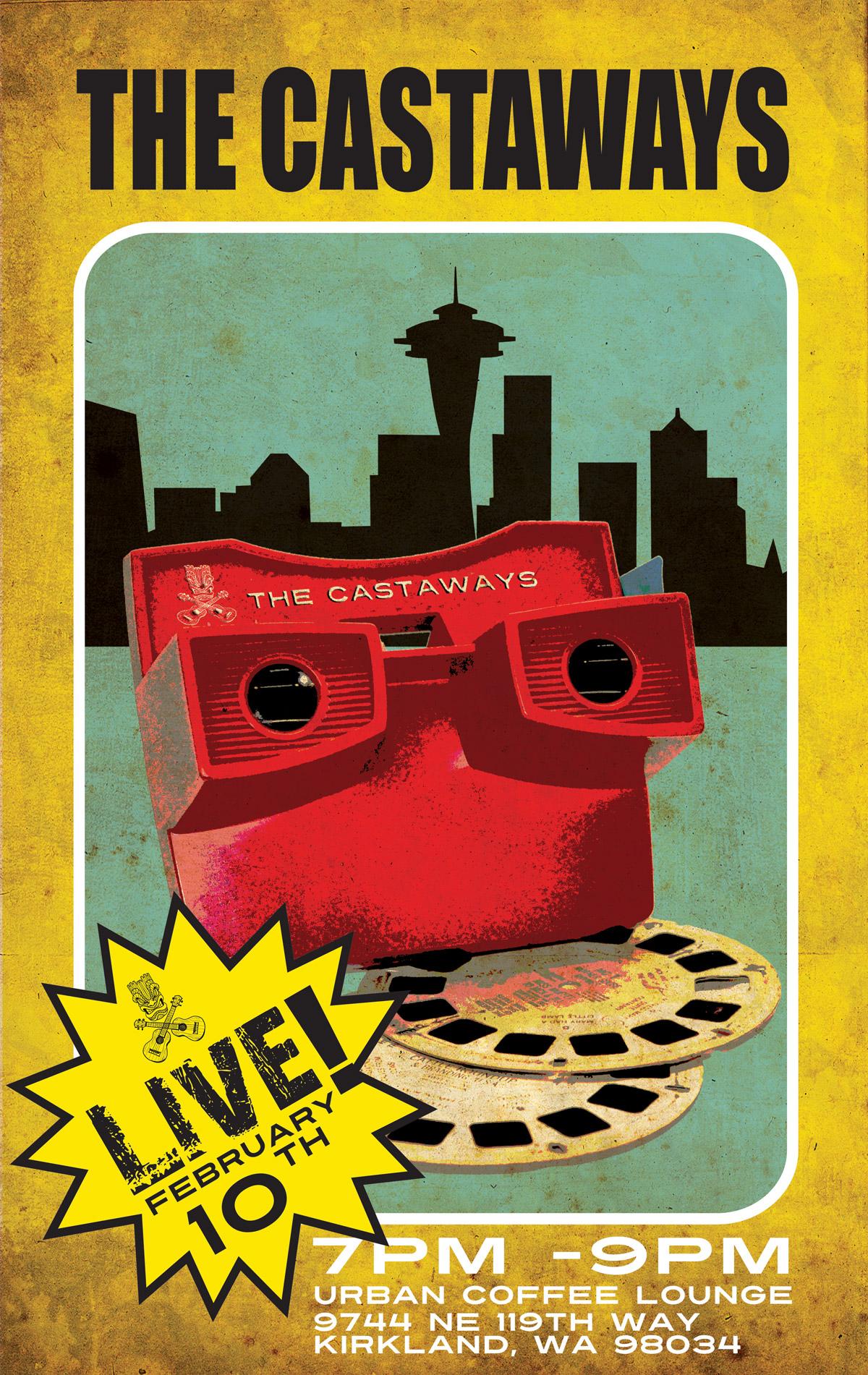 The Castaways at Urban Coffee Lounge - nerd's eye view