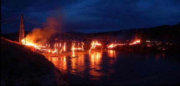 Dewey Bridge Fire